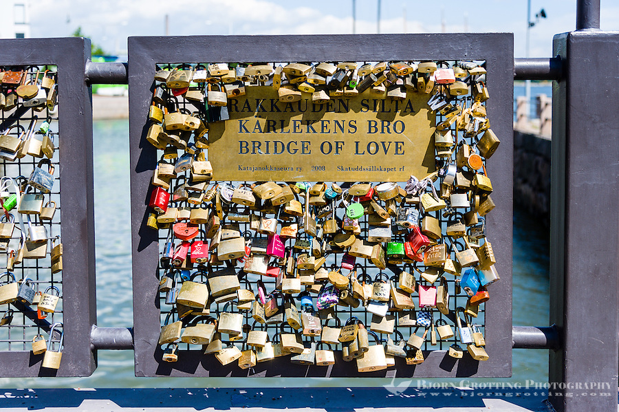 Finland, Helsinki. Bridge of Love.