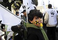 Roma, 26 Marzo 2011.Manifestazione nazionale per i referendum su acqua pubblica e nucleare, contro la guerra in Libia..Rome, 26 March 2011.National demonstration for referendum on the public water and nuclear power, against the war in Libya