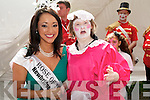"""IO Concert : Maura Carmody who played Mrs. Darwin in the I.O. Performing Arts Concert """"My Big Fat Bug Wedding """" in Pearse Park, Tralee  on Monday meets the 2011 Rose Tara Talbot."""