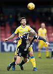 Ross County v St Johnstone&hellip;18.02.17     SPFL    Global Energy Stadium, Dingwall<br />Richie Foster battles with Marcus Fraser<br />Picture by Graeme Hart.<br />Copyright Perthshire Picture Agency<br />Tel: 01738 623350  Mobile: 07990 594431