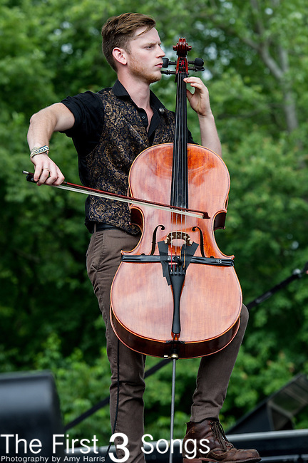 Amos Housworth of The Last Bison performs during Day 3 of the 2013 Firefly Music Festival in Dover, Delaware.