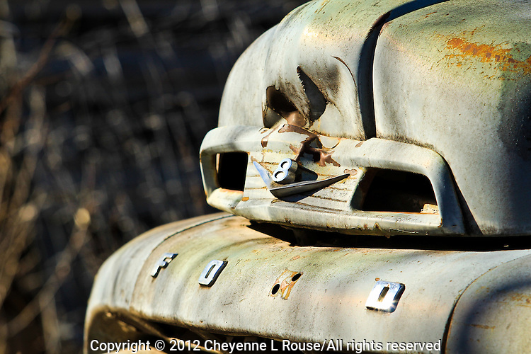 """""""I could a had a V8""""....1952 Flathead Ford - New Mexico - Old Truck"""