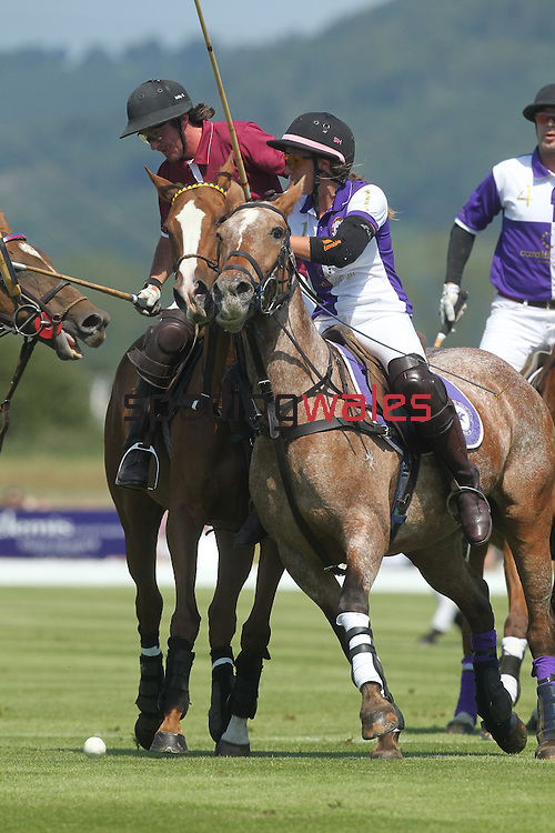 Elemis Polo At The Manor.Action as Celtic Manor Polo take on Cirencester..02.07.11.©Steve Pope
