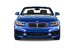 Car photography straight front view of a 2017 BMW 2-Series M230i 2 Door Convertible Front View