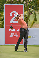 Lucius TOH (SIN) watches his tee shot on 2 during Rd 1 of the Asia-Pacific Amateur Championship, Sentosa Golf Club, Singapore. 10/4/2018.<br /> Picture: Golffile | Ken Murray<br /> <br /> <br /> All photo usage must carry mandatory copyright credit (&copy; Golffile | Ken Murray)