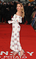 Lily James at the &quot;The Guernsey Literary And Potato Peel Pie Society&quot; world film premiere, Curzon Mayfair cinema, Curzon Street, London, England, UK, on Monday 09 April 2018.<br /> CAP/CAN<br /> &copy;CAN/Capital Pictures