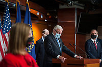 United States House Majority Leader Steny Hoyer (Democrat of Maryland), offers remarks while joined by other Democratic House members, during a news conference at the US Capitol, following a meeting at the White House in Washington, DC, Tuesday, June 30, 2020. <br /> Credit: Rod Lamkey / CNP /MediaPunch