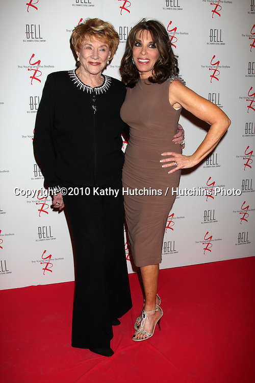 Jeanne Cooper & Kate Linder.arrivng at The Young & The Restless 37th Anniversary Dinner.Via Allorro.Beverly Hills, CA.March 9, 2010.©2010 Kathy Hutchins / Hutchins Photo....