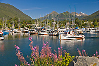 Commercial trolling vessel Puritan, Crescent Harbor, Sitka, Baranof Island, southeast, Alaska.