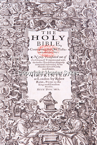 The Hatfield House King James Bible. Hatfield Hertfordshire UK.
