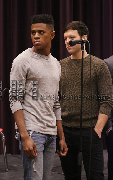 Jeremy Pope and Taylor Frey attend 'The View Upstairs' sneak preview and panel discussion at The LGBT Community Center on February 1, 2017 in New York City.