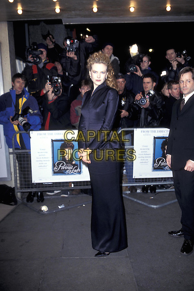 NICOLE KIDMAN.20 February 1997.full length full-length blue long sleeved dress jacket.ref:4587.www.capitalpictures.com.sales@capitalpictures.com.©Capital Pictures