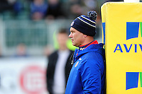 Bath Rugby Head Coach Tabai Matson looks on during the pre-match warm-up. Aviva Premiership match, between Bath Rugby and Wasps on March 4, 2017 at the Recreation Ground in Bath, England. Photo by: Patrick Khachfe / Onside Images