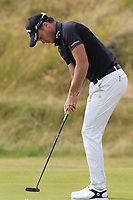 Danny Willett (ENG) putts on the 18th green during Sunday's Final Round of the 2018 Dubai Duty Free Irish Open, held at Ballyliffin Golf Club, Ireland. 8th July 2018.<br /> Picture: Eoin Clarke   Golffile<br /> <br /> <br /> All photos usage must carry mandatory copyright credit (&copy; Golffile   Eoin Clarke)