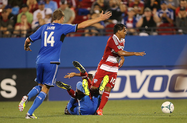 FRISCO, TX: David Ferreira #10 of FC Dallas in action against the San Jose Earthquakes at FC Dallas Stadium in Frisco, Texas on May 25,2013 (Photo Rick Yeatts)