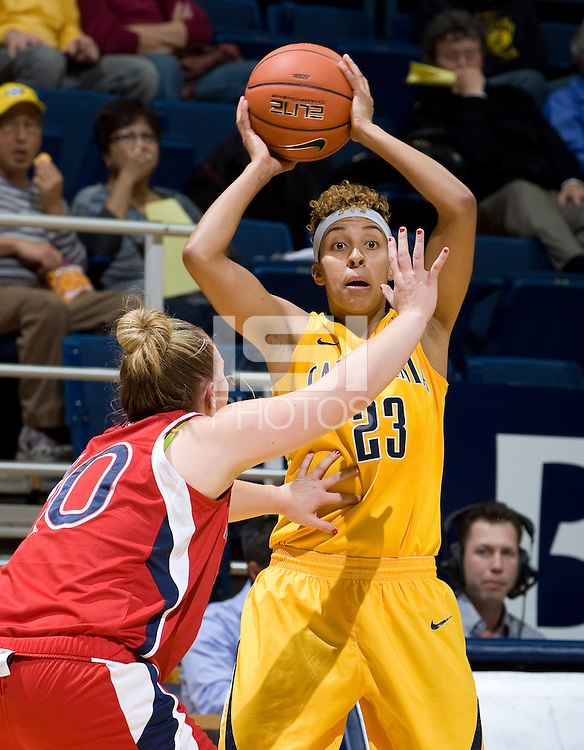 Layshia Clarendon of California in action during the game against St. Mary's at Haas Pavilion in Berkeley, California on November 15th, 2012.  California defeated St. Mary's, 89-41.