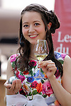 """May 21, 2016, Tokyo, Japan - Japanese Swiss actress Haruka Christine smiles as she plays petanque, French ball game in Tokyo on Saturday, May 21, 2016 as a  part of """"Aperitif 365"""" event. Thousands of visitors are expecting to enjoy aperitifs and hors d'oeuvres at the three-day event for the promotion of French foods and drinks.  (Photo by Yoshio Tsunoda/AFLO) LWX -ytd"""