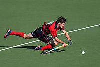 Action from the 2018 Men's National Hockey League match between Canterbury and Capital at National Hockey Stadium in Wellington, New Zealand on Tuesday, 18 September 2018. Photo: Dave Lintott / lintottphoto.co.nz