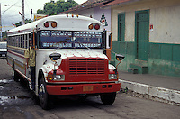 Public bus in Moyogalpa, the largest town on Isla de Ometepe, Nicaragua
