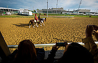 LOUISVILLE, KY - MAY 03: Fans take photos of Classic Empire at Churchill Downs on May 03, 2017 in Louisville, Kentucky. (Photo by Alex Evers/Eclipse Sportswire/Getty Images)