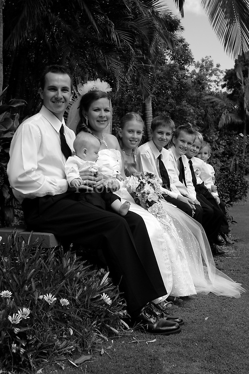 Beautiful wedding shot at Bunderburg Queensland
