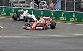 Montreal, Canada .Kimi Raikkonen (FIN) for Scuderia Ferrari and Valtteri Bottas (FIN) for Williams Martini Racing at the Formula One Canadian Grand Prix held at the circuit Gilles-Villeneuve in Montreal, Quebec. June 12 2016