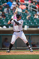 Birmingham Barons second baseman Trey Michalczewski (27) at bat during a game against the Pensacola Blue Wahoos on May 9, 2018 at Regions FIeld in Birmingham, Alabama.  Birmingham defeated Pensacola 16-3.  (Mike Janes/Four Seam Images)