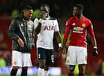 Anthony Martial (l) Moussa Sissoko of Tottenham (c) and Paul Pogba of Manchester United (r) during the English Premier League match at Old Trafford Stadium, Manchester. Picture date: December 11th, 2016. Pic Simon Bellis/Sportimage