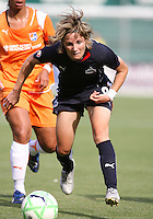 Sonia Bompastor #8 of Washington Freedom during a WPS match against Sky Blue FC at RFK Stadium on May 23, 2009 in Washington D.C. Freedom won the match 2-1