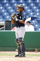 July 10, 2009:  Catcher Jhorge Liccien (62) of the GCL Yankees during a game at Bright House Networks Field in Clearwater, FL.  The GCL Yankees are the Gulf Coast Rookie League affiliate of the New York Yankees.  Photo By Mike Janes/Four Seam Images