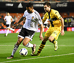 Valencia's Ruben Vezo and Barakaldo's Armiche during Spain King Cup match. December 16, 2015. (ALTERPHOTOS/Javier Comos)