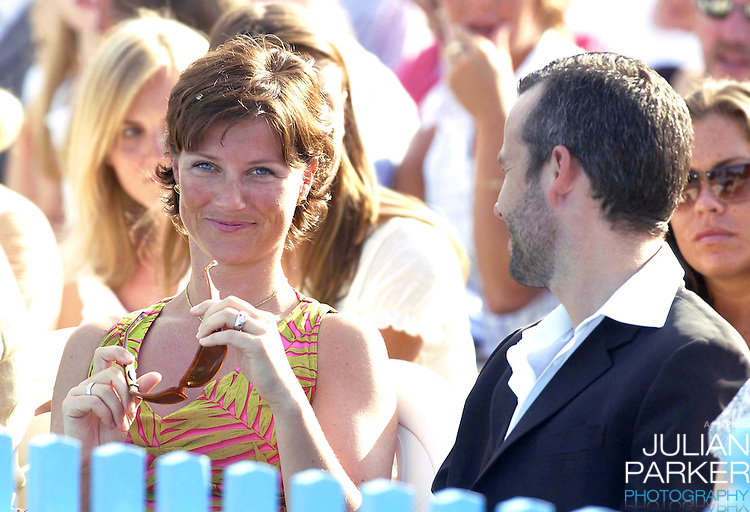 CONCERT IN BERGHOLM TO CELEBRATE CROWN PRINCESS VICTORIA.OF SWEDEN'S 25TH BIRTHDAY.  14/7/02 . PICTURE: UK PRESS  (ref 5105-31).PRINCESS MARTHA LOUISE & ARI BEHN.