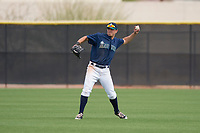 Seattle Mariners center fielder Jack Larsen (17) during a Minor League Spring Training game against the San Diego Padres at Peoria Sports Complex on March 24, 2018 in Peoria, Arizona. (Zachary Lucy/Four Seam Images)