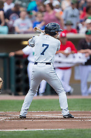 Jacob Robson (7) of the West Michigan Whitecaps at bat against the Dayton Dragons at Fifth Third Field on May 29, 2017 in Dayton, Ohio.  The Dragons defeated the Whitecaps 4-2.  (Brian Westerholt/Four Seam Images)