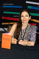 "Justine Bateman, Author of ""Fame: The hijacking of Reality, "" interviewed by Deborah Vankin at the Los Angeles Times Festival of Books held at the USC Campus in Los Angeles, California on Sunday, April 14, 2019"