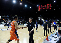 Giants coach Jamie Peralman after the national basketball league semifinal match between Nelson Giants and Southland Sharks at TSB Bank Arena in Wellington, New Zealand on Saturday, 4 August 2018. Photo: Dave Lintott / lintottphoto.co.nz