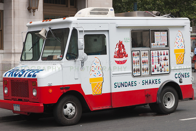 Here Comes Frostee ice cream truck near Battery Park in New York City