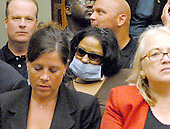 Washington, D.C. - June 25, 2007 -- Mary Elizabeth Bishop, a St. Vincent's paramedic who is suffering from a lung infection, awaits the arrival of former Environmental Protection Agency (EPA) Administrator Christine Todd Whitman before the United States House Constitution, Civil Rights, and Civil Liberties Subcommittee hearing on post 9/11 air quality in New York and the area surrounding the Twin Towers in Manhattan in Washington, D.C. on Monday, June 25, 2007.<br /> Credit: Ron Sachs / CNP<br /> (RESTRICTION: No New York or New Jersey newspapers or Newspapers within a 75 mile radius of New York City)