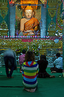 Mandalay Hill celebrating Buddhist Festival of Light, Mandalay, Myanmar