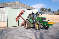 Accord monopill sugar beet drill in farm yard