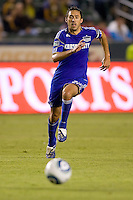 Kansas City Wizard midfielder Davy Arnaud moves to the ball. The Kansas City Wizards beat the LA Galaxy 2-0 at Home Depot Center stadium in Carson, California on Saturday August 28, 2010.