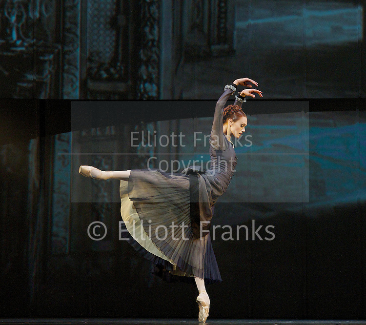 Anna Karenina<br /> chorography by Alexei Ratmansky <br /> Music by Rodion Shchedrin<br /> Book by Tolstoy<br /> The Mariinsky Ballet <br /> presented by Victor Hochhauser<br /> at The Royal Opera House, London, Great Britain <br /> rehearsal of Act 1<br /> 9th August 2011 <br /> <br /> <br /> Uliana Lopatkina (as Anna Karenina)<br /> <br /> Photograph by Elliott Franks