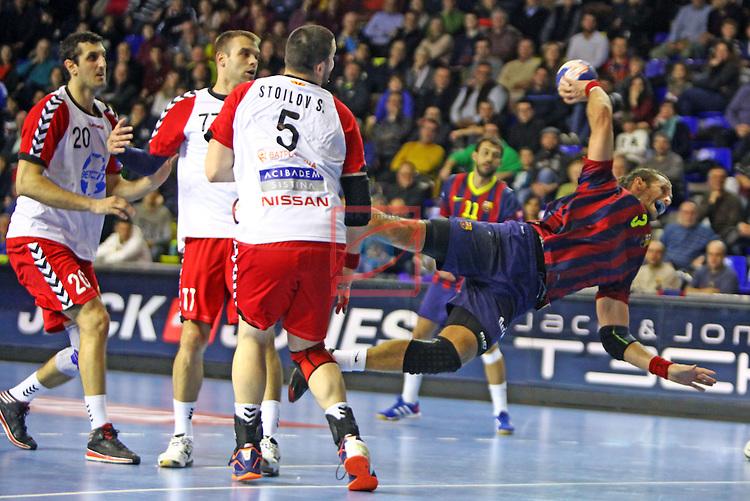 VELUX EHF Champions League - Game: 7<br /> FC Barcelona vs HC Vardar Skopjer: 30-23.<br /> Jesper Noddesbo.