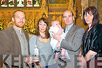 Baby Chloe Marie Mulvihill, Listowel & London who was christened in St Mary's Church, Listowel on Saturday17th September  by Canon Declan O'Connor. L- R: Ed. Mulvihill, Catherine Mulvihill, John Mulvihill with Chloe & Orla Mulvihill.