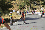 Riders descend Sierra de la Alfaguara with whistles to warn spectators after Stage 4 of the La Vuelta 2018, running 162km from Velez-Malaga to Alfacar, Sierra de la Alfaguara, Andalucia, Spain. 28th August 2018.<br /> Picture: Eoin Clarke   Cyclefile<br /> <br /> <br /> All photos usage must carry mandatory copyright credit (&copy; Cyclefile   Eoin Clarke)