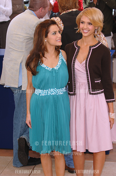 Actresses JESSICA ALBA & BRITTANY MURPHY (in green) at the 58th Annual Film Festival de Cannes to promote their movie Sin City..May 18, 2005 Cannes, France..© 2005 Paul Smith / Featureflash