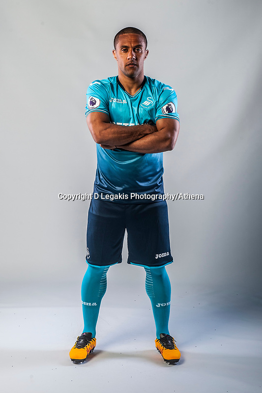 Friday  15 July 2016<br />Pictured: Wayne Routledge of Swansea City <br />Re: Swansea City FC  Joma Kit photographs for the 2016-2017 season
