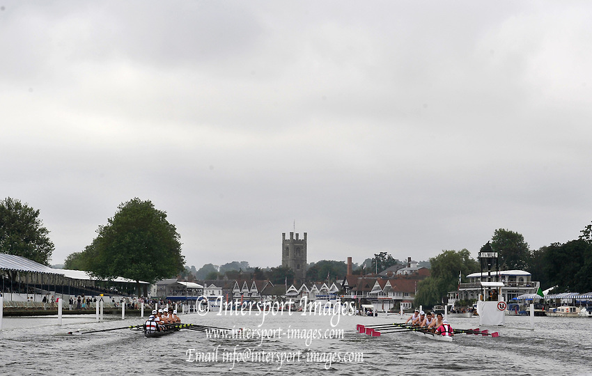 Henley, Great Britain.  Berks Station, {left] Belmont Hill School, USA. and Abingdon School,  Fridays heat of the Princess Elizabeth Challenge Cup  2009 Henley Royal Regatta {dow} 03/07/2009 at  [Mandatory Credit. Peter Spurrier/Intersport Images] . HRR.