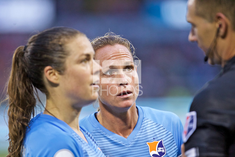 Portland, OR - Saturday June 17, 2017: Christie Pearce during a regular season National Women's Soccer League (NWSL) match between the Portland Thorns FC and Sky Blue FC at Providence Park.