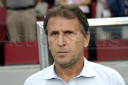 22 June 2005: Portrait of Japan coach Zico standing by the dug-out before the FIFA Confederations Cup Group B game between Japan and Brazil played at the RheinEnergie Stadion, Cologne, Germany. The game finished in a 2-2 draw. Photo: Neil Tingle/actionplus..050622 football soccer koln manager coach coaches